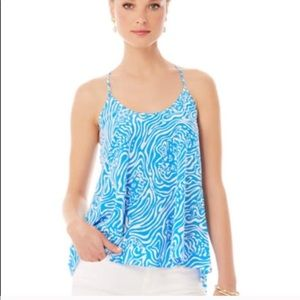 Lilly Pulitzer | Maisy Silk Racerback Blouse Small